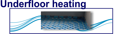 Underfloor heating, for extreme cold